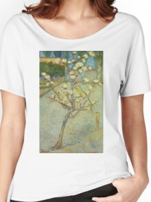 Vincent Van Gogh - Small Pear Tree In Blossom. Still life with flowers: flowers, blossom, nature, botanical, floral flora, wonderful flower, plants, cute plant for kitchen interior, garden, vase Women's Relaxed Fit T-Shirt