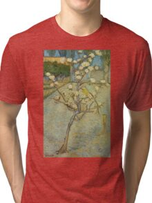 Vincent Van Gogh - Small Pear Tree In Blossom. Still life with flowers: flowers, blossom, nature, botanical, floral flora, wonderful flower, plants, cute plant for kitchen interior, garden, vase Tri-blend T-Shirt