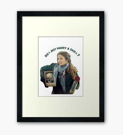 Waverly Earp: Did I Just Marry A Skull? Framed Print