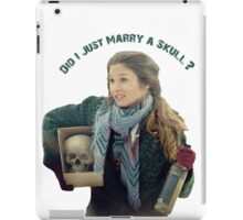 Waverly Earp: Did I Just Marry A Skull? iPad Case/Skin