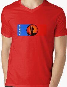 The Sunset Of Key West Mens V-Neck T-Shirt