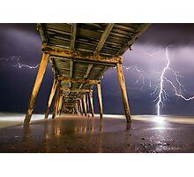 Pier Of Lightning Photographic Print