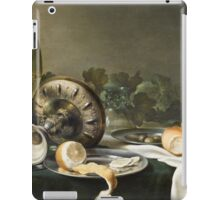 Willem Claesz Heda - Still-Life . Still life with fruits and vegetables: fruit, vegetable, glass of wine, tasty, gastronomy food, flowers, dish, cooking, kitchen, vase iPad Case/Skin