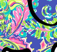 Ivory Ella Elephant Sticker Lilly Pulitzer Inspired Print Sticker