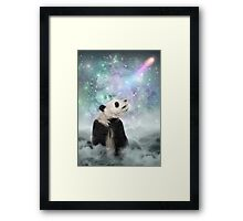 My Thoughts are Stars • (Panda Dreams / Color 2) Framed Print