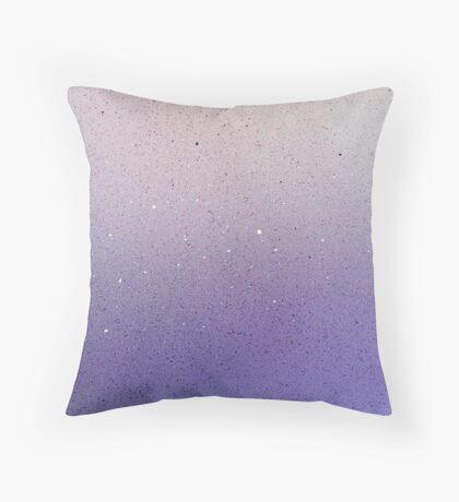 Purple Glitter Mist Throw Pillow