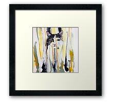 Wellington Floof Abstract Framed Print