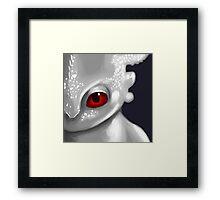 Albino Night Fury Framed Print