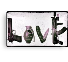 LOVE GUNS  Canvas Print