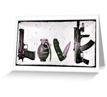 LOVE GUNS  Greeting Card