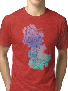 Koi Water Colours: Serene Tri-blend T-Shirt