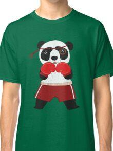 Cartoon Animals Fighting Boxing Panda Bear Classic T-Shirt