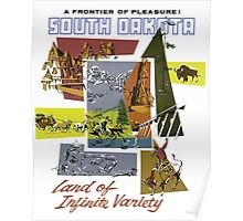 A Frontier Of Pleasure! South Dakota Vintage Travel Poster Poster