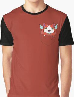 Pocket Jibanyan Graphic T-Shirt
