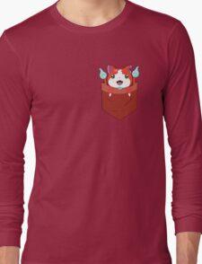 Pocket Jibanyan Long Sleeve T-Shirt