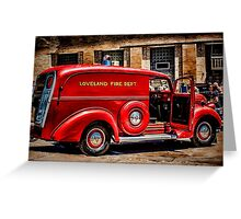 Loveland Fire Sedan Greeting Card