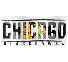 Chicago Blackhawks Ice Poster