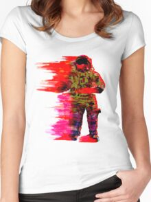 Red Space Women's Fitted Scoop T-Shirt