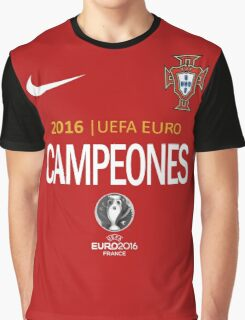 PORTUGAL Football Team - campeones -CHAMPION - UEFA EURO 2016 Graphic T-Shirt