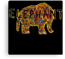 Elephant. In a variety of colours. Canvas Print