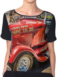 Hot Rod Fire Truck Chiffon Top