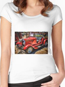 Hot Rod Fire Truck Women's Fitted Scoop T-Shirt