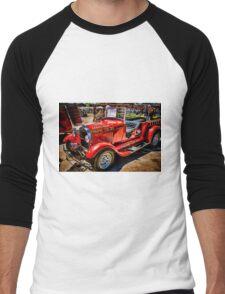 Hot Rod Fire Truck Men's Baseball ¾ T-Shirt