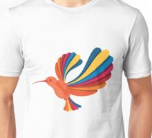 Cute and Beautiful Rainbow hummingbird Unisex T-Shirt