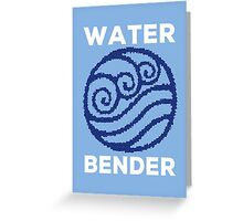 Water Bender and Proud Greeting Card
