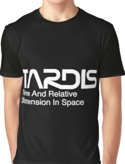 NASA Worm Logo TARDIS (White) Graphic T-Shirt