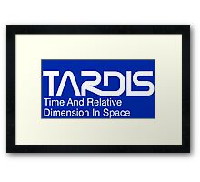NASA Worm Logo TARDIS (White) Framed Print
