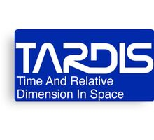 NASA Worm Logo TARDIS (White) Canvas Print