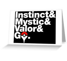 Govetica - Instinct First Edition Greeting Card