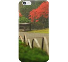 Japanese Maple Tree in Autumn Fog iPhone Case/Skin