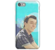 Thomas Sanders on blue iPhone Case/Skin