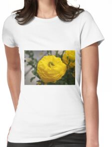 Yellow Begonia Womens Fitted T-Shirt