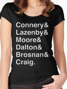 JAMES BOND Helvetica Names List Women's Fitted Scoop T-Shirt