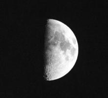 Half Moon in black and white Sticker