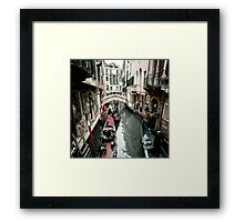 Crowded Canal Framed Print