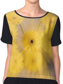 Yellow flower with zoom blur Chiffon Top