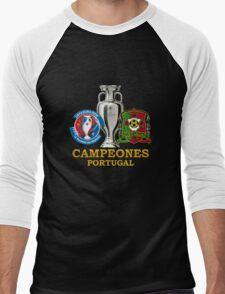 PORTUGAL Football Team 3 - campeones -CHAMPION - UEFA EURO 2016 Men's Baseball ¾ T-Shirt