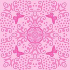 Pink Butterfly Medallion by 2HivelysArt