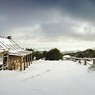 Craigs Hut Winter Morning, Mt Stirling, Victoria, Australia by Michael Boniwell