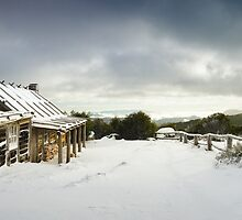 Craigs Hut Winter Morning, Mt Stirling, Victoria, Australia by Michael Boniwell