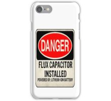Logo-Flux Capacitor iPhone Case/Skin