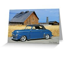 Classic Convertible and the Old Barn Greeting Card