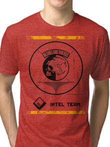 Metal Gear Solid MSF Intel Team Shirt Tri-blend T-Shirt