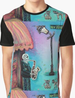The New Orleans Skeleton Club Graphic T-Shirt
