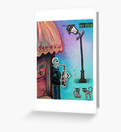 The New Orleans Skeleton Club Greeting Card