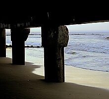 Morning Stroll Under the Pier by ctheworld